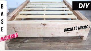 Como hacer una base moderna de madera. Facil de hacer!