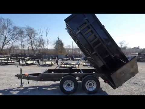 6 Ft. X 10 Ft. Heavy Duty Equipment Hydraulic Dump Trailer