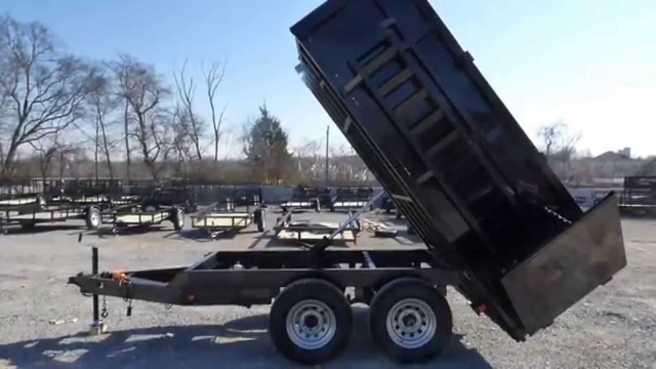 Dump Trailer 6x12 Landscape Equipment 3 FT Sides