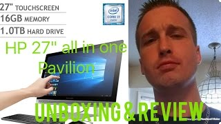 "HP Pavilion 27"" Touch-Screen All-in-One Intel Core i7- 12GB Memory-1TB Hard Drive-Unboxing & Review"