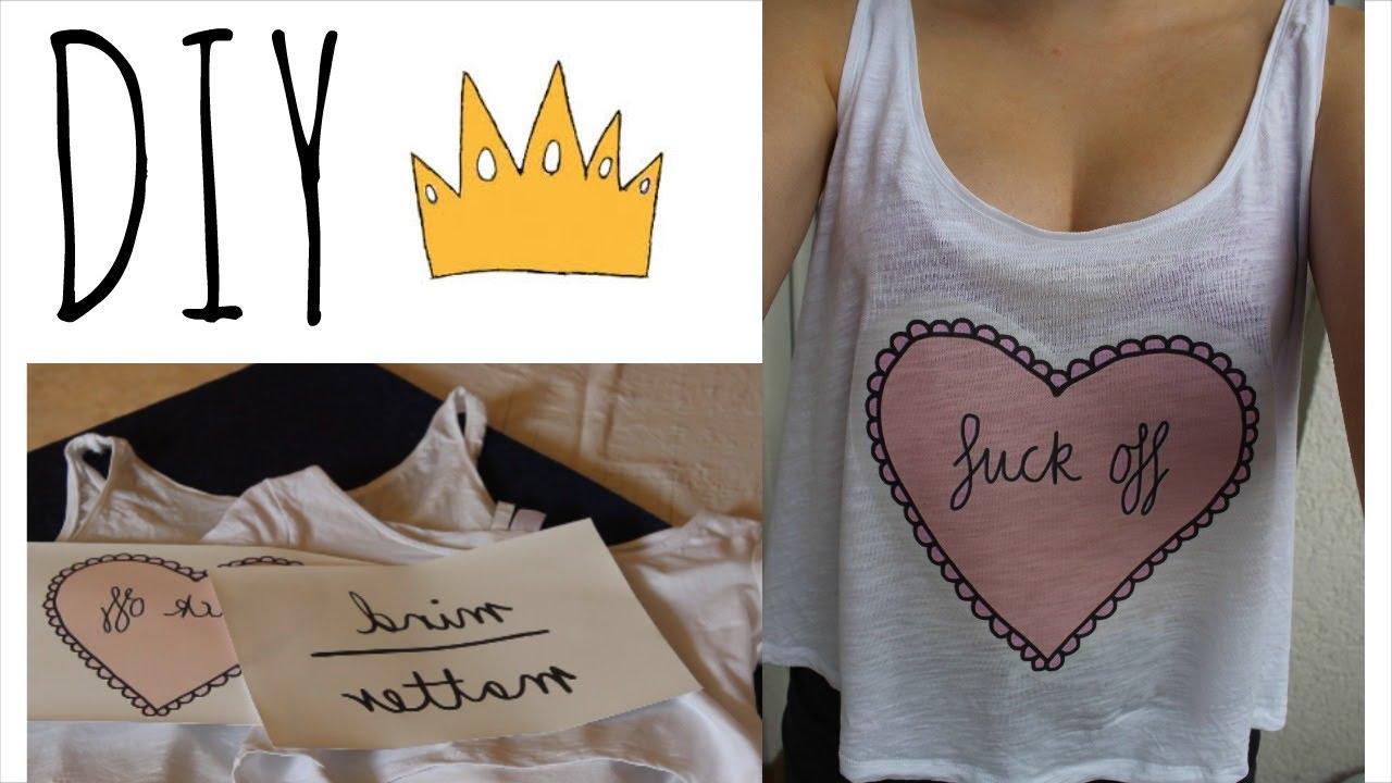 Shirts selber bedrucken ♥ DIY - YouTube