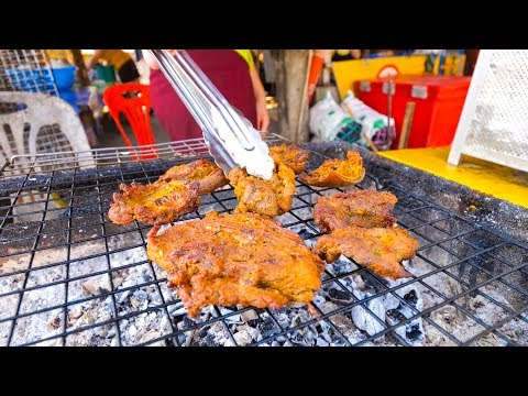 Luang Prabang Travel Guide - STREET FOOD Grilled Goat and SPECTACULAR Kuang Si Waterfalls, Laos!