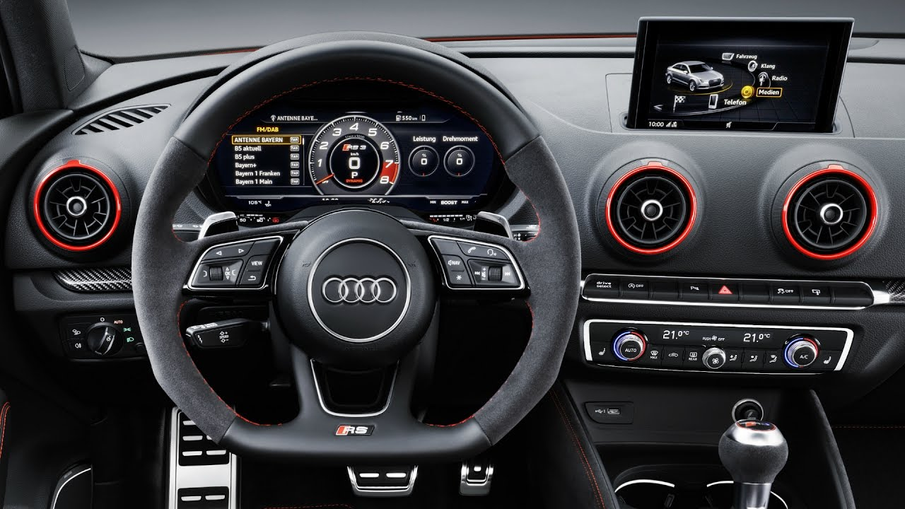 2017 Audi Rs3 Sedan 400 Hp Interior Youtube