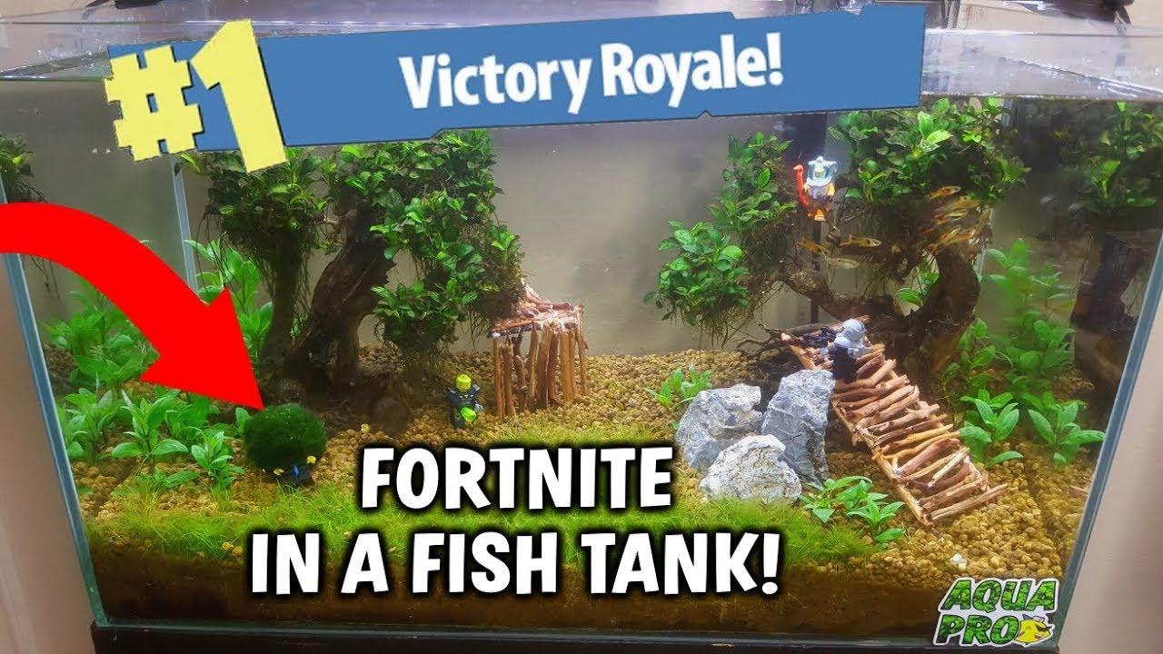 Fortnite In A Fish Tank Battle Royale Aquarium Build Youtube