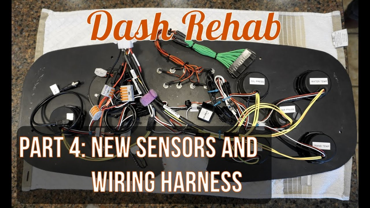 dash rehab part 4 new sensors and creating a wiring harness Protecting a Wire Harness