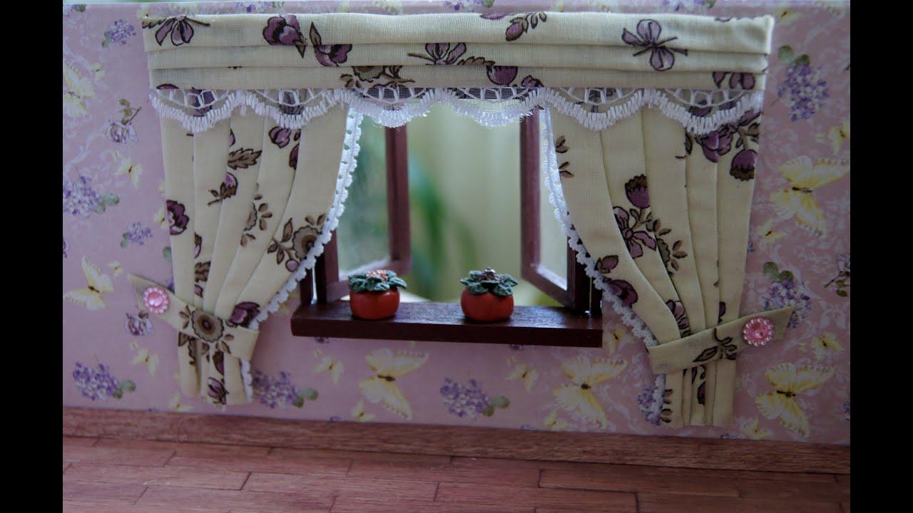 как сшить шторы для кукольного домика