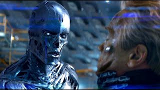 Terminator Genisys Blu-Ray Feature - Arnold Vs. 1984 Arnold (HD) Arnold Schwarzenegger Movie 2015