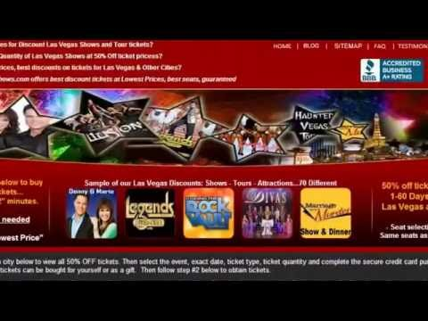 HalfPriceShows com  Discount Tickets Lowest price in Las Vegas