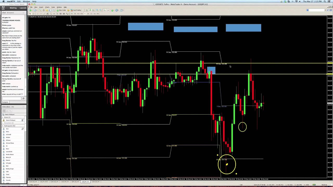 Pivot points forex trading