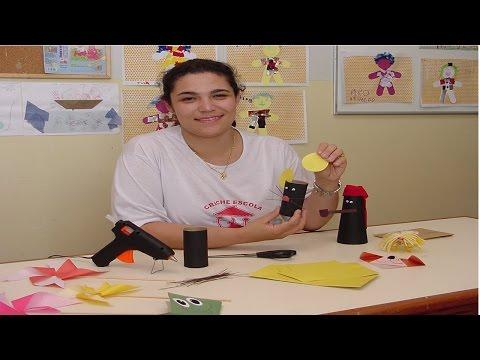 Clique e veja o vídeo Confecção de Brinquedos Pedagógicos com Sucata e Dobradura - Construção do Conhecimento