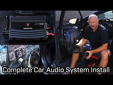 full-car-audio-system-installation---speakers,-subwoofer-and-amplifier