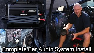 Full Car Audio System Installation - Kenwood - Speakers, Subwoofer and Amplifier