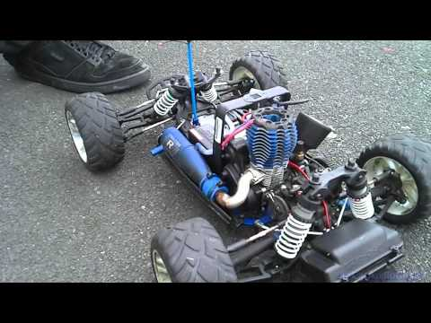 Traxas Nitro Fuel RC car without shell