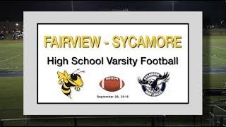 2018 9 28 SPORT FVHS Football vs Sycamore