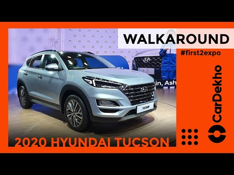 Hyundai Tucson Facelift Walkaround Auto Expo 2020| CarDekho.com