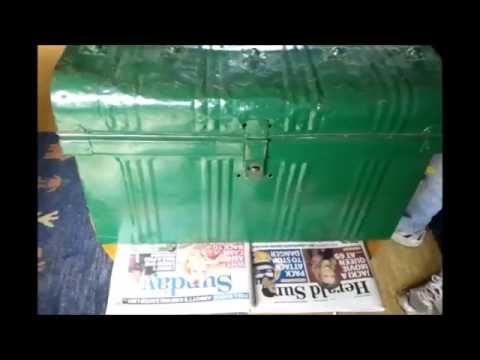 Repair of Vintage Metal Trunk