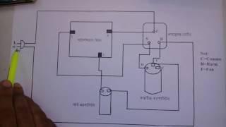Capacitor strt & runn motor cerkit Diagram.ক্যাপাসিটর স্টাট এন্ড রান মোটরের সার্কিট ডায়াগ্রাম ।
