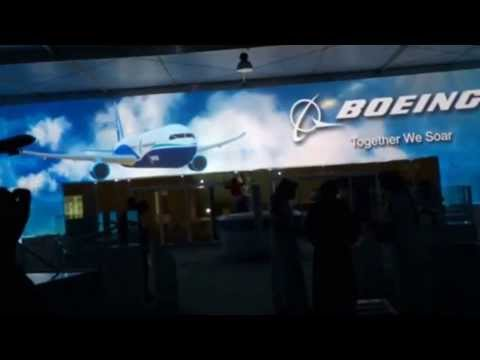 BOEING Pavilion -Video Projection Rehearsal, Al Janadryia Festival , 11,Feb,2014