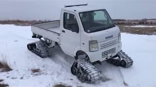 Suzuki Carry Mini Truck with Tracks - Test Drive + Speed Run