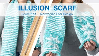 VIDEO CLIP - CAST OFF - Norwegian Star Illusion Scarf on KB all-in-one 5/8 gauge loom