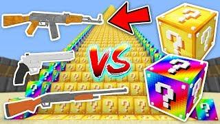 SİLAHLI ŞANS BLOKLARI MERDİVENİ CHALLENGE - Minecraft