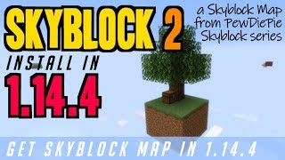 How to get Skyblock Map for Minecraft 1.14.4 - download & install Skyblock 2 in 1.14.4