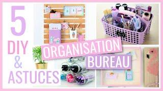 HUBSIDE : 5 DIY & ASTUCES FACILES : BUREAU / Rangement & Organisation #3