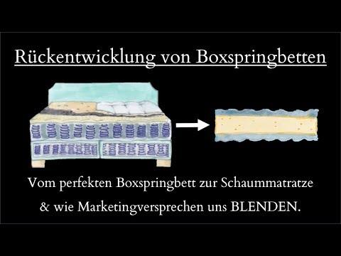 Boxspringbetten Kauftipps - Die Rückentwicklung Von Boxspringbetten