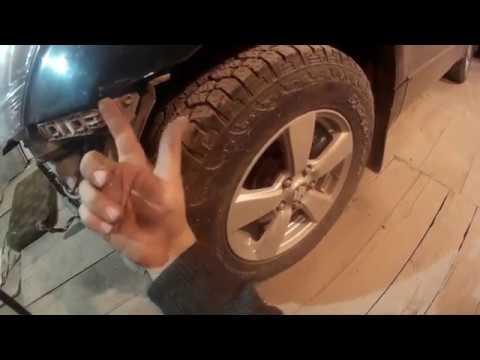 как снять передний бампер Mitsubishi Grand Vitara