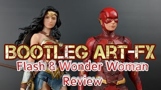 Bootleg Art Fx Justice League Wonder Woman and Flash Review