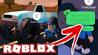 $1,000,000 MONSTER TRUCK | Roblox English Jailbreak