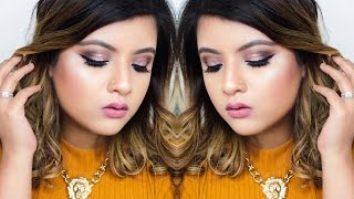 makeup revolution fortune favours the brave palette rose gold smokey eye tutorial
