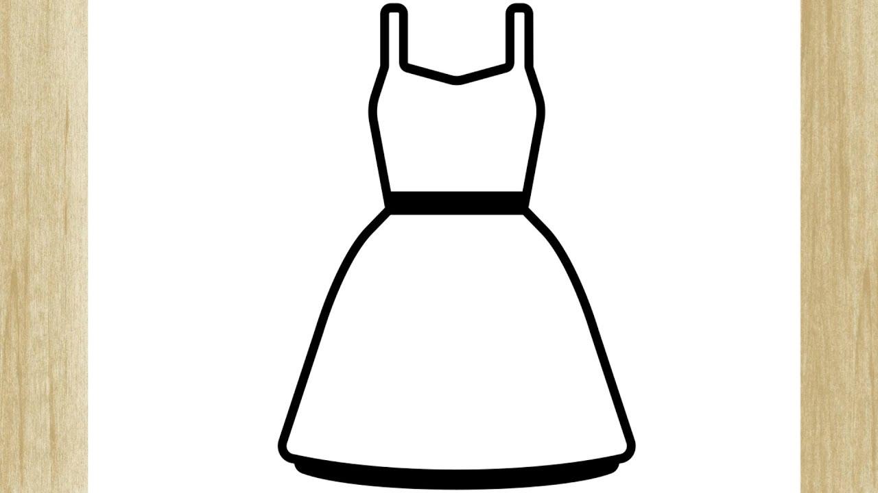 Como Desenhar Um Vestido De Alca Simples Youtube