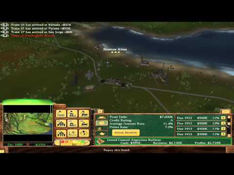 Railroad Tycoon 3 - 11 - Argentina (Gold Medal)
