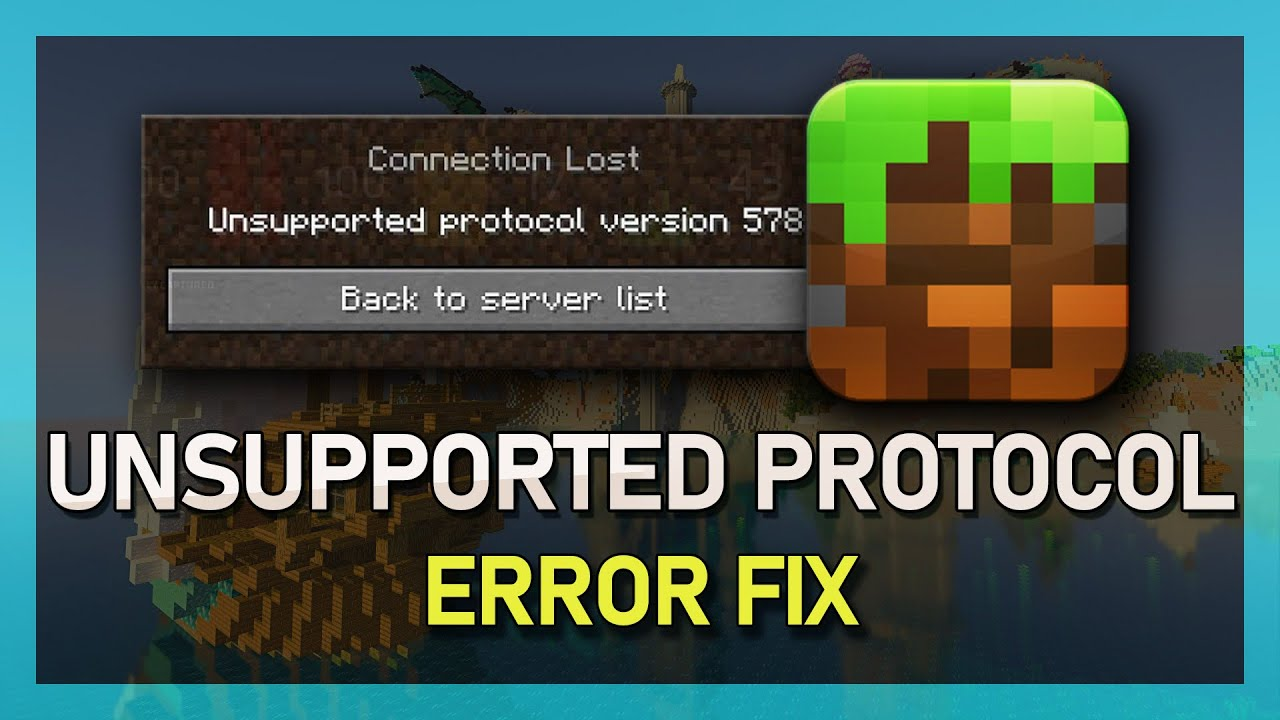 Minecraft - How to Fix Unsupported Protocol Verison