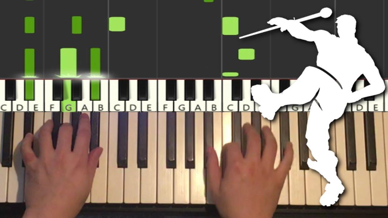 Fortnite Dance - Drum Major (Piano Tutorial Lesson)