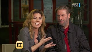 "Shania  Twain - ET - On the Set of ""Trading Paint"" With John Travolta - Oct 24 2017"