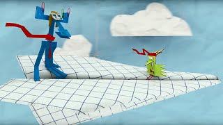 Мультфильм про оригами - Бумажки - На высоте - Серия 5