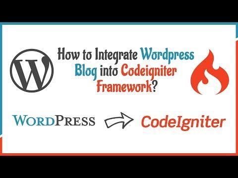 WordPress codeigniter