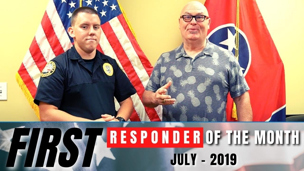 Mount Juliet Police Department - July 2019 Officer of the Month - Officer Chris Barth and K9 Majlo