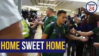 WATCH   Fans line halls of OR Tambo airport to welcome Springboks home