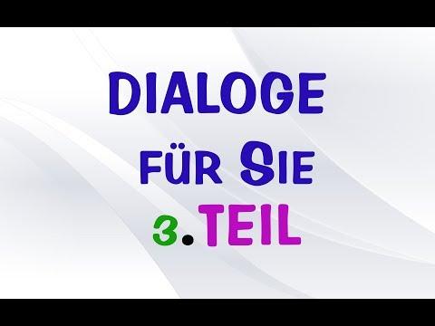 Dialoge für Sie #3 - Deutsch Lernen Online Kostenlos