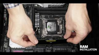 Ram installation on a X99, quad channel, motherboard (Crazy CPU Machine 4/10)