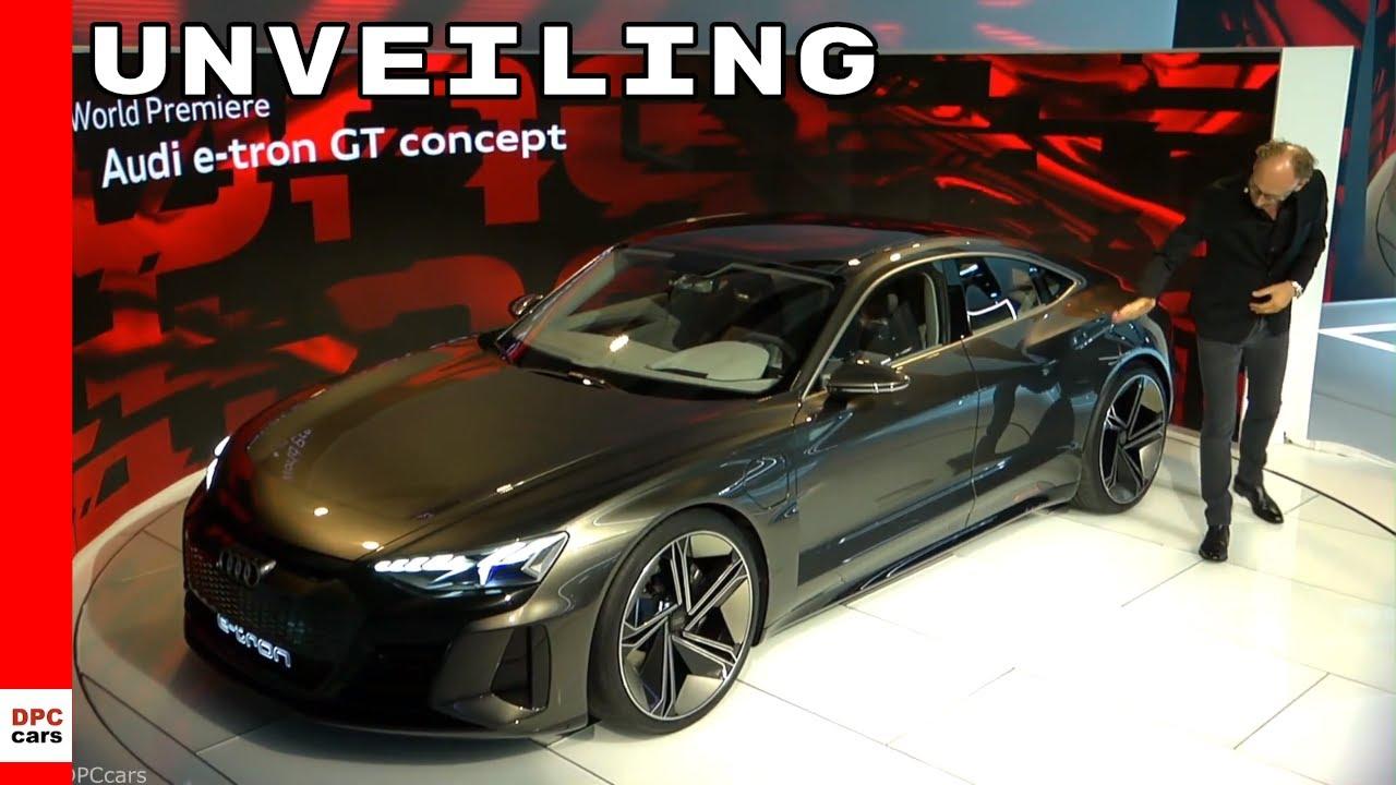 Audi E Tron Gt Concept Unveiling Youtube