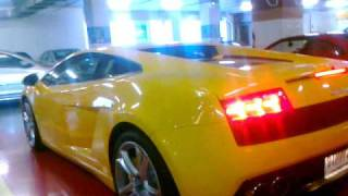 Lamborghini Gallardo  Start up เกาะติด  - ลานจอด supercar Paragon Thailand