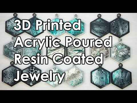 HOW TO: 3D Printed Acrylic Pour earrings with resin epoxy seal