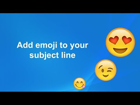 How to Add Emoji To your Email header | Using Emoji One
