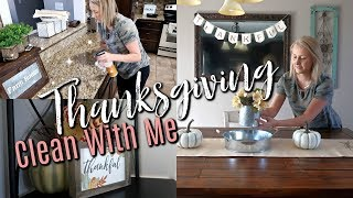 🦃THANKSGIVING CLEAN AND DECORATE WITH ME PREPARING FOR GUEST  FALL CLEAN WITH ME 2018