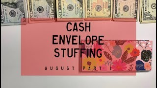 Cash Envelope Stuffing | August Checks #1 (combined incomes) | BudgetWithBri