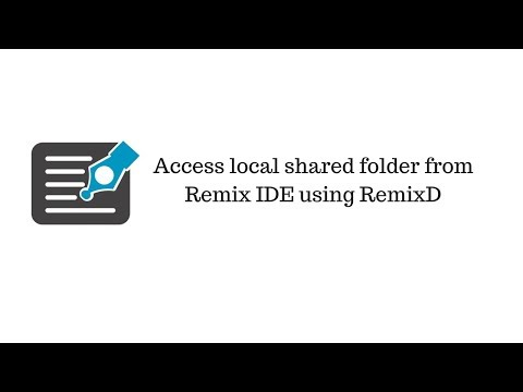 [Ethereum Tutorials]- Access Local Folder From Remix IDE Using RemixD